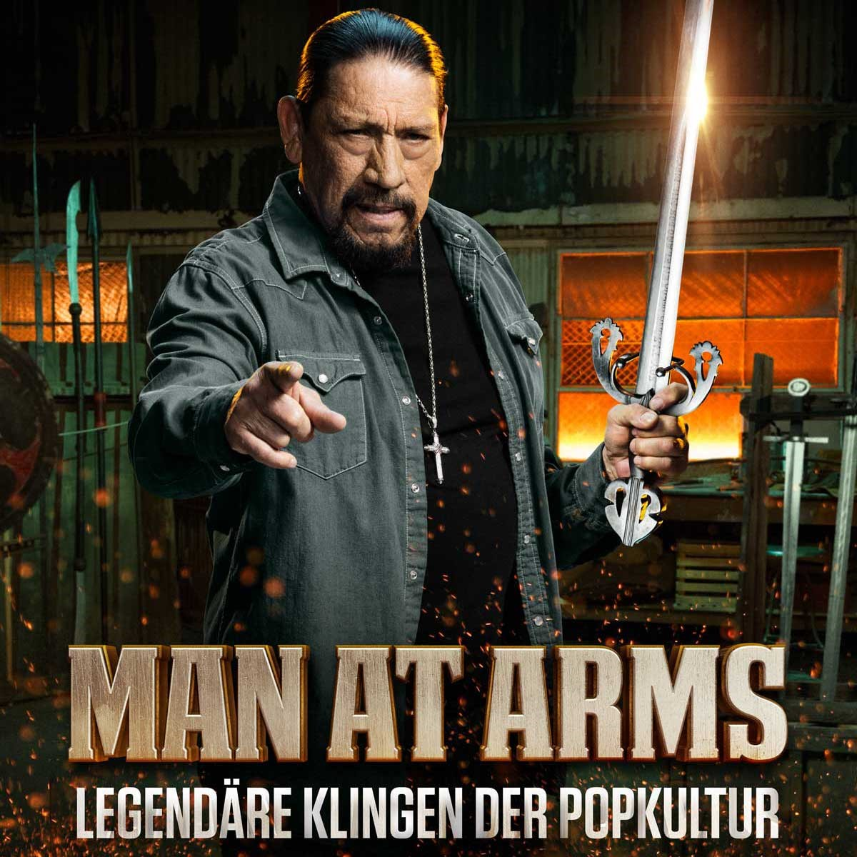"""Hey to all my German fans! My show """"Man At Arms"""" hits the German screens on @HISTORY Deutschland starting this Thursday. Tune in! https://t.co/LojJwfmnTZ"""