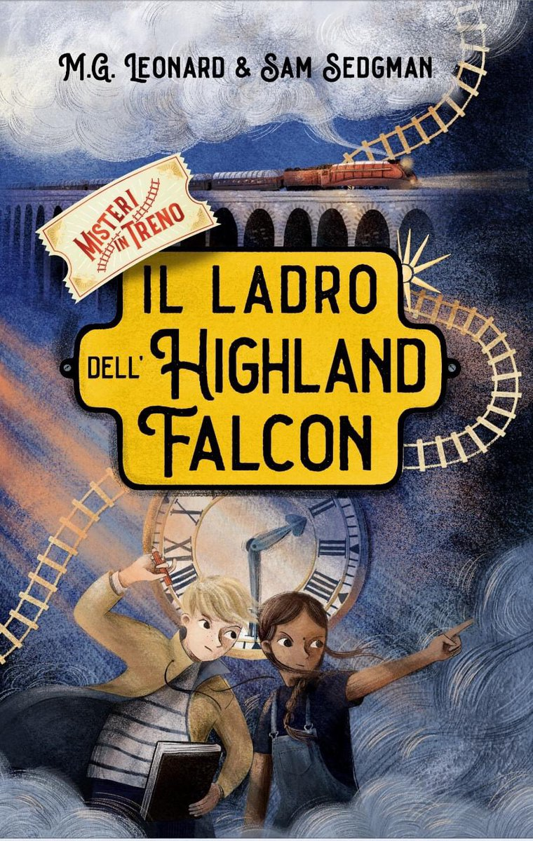 "Today is finally out the italian edition of ""The Highland Falcon Thief"" by @MGLnrd  and @samuelsedgman . @Italian readers are you ready to jump aboard?! :-)@RizzoliLibri  🚂 🚂 🚂  #misteriintreno #adventuresontrains #TheHighlandFalcon  #elisapaganellillustration https://t.co/3B54GwSIqI"