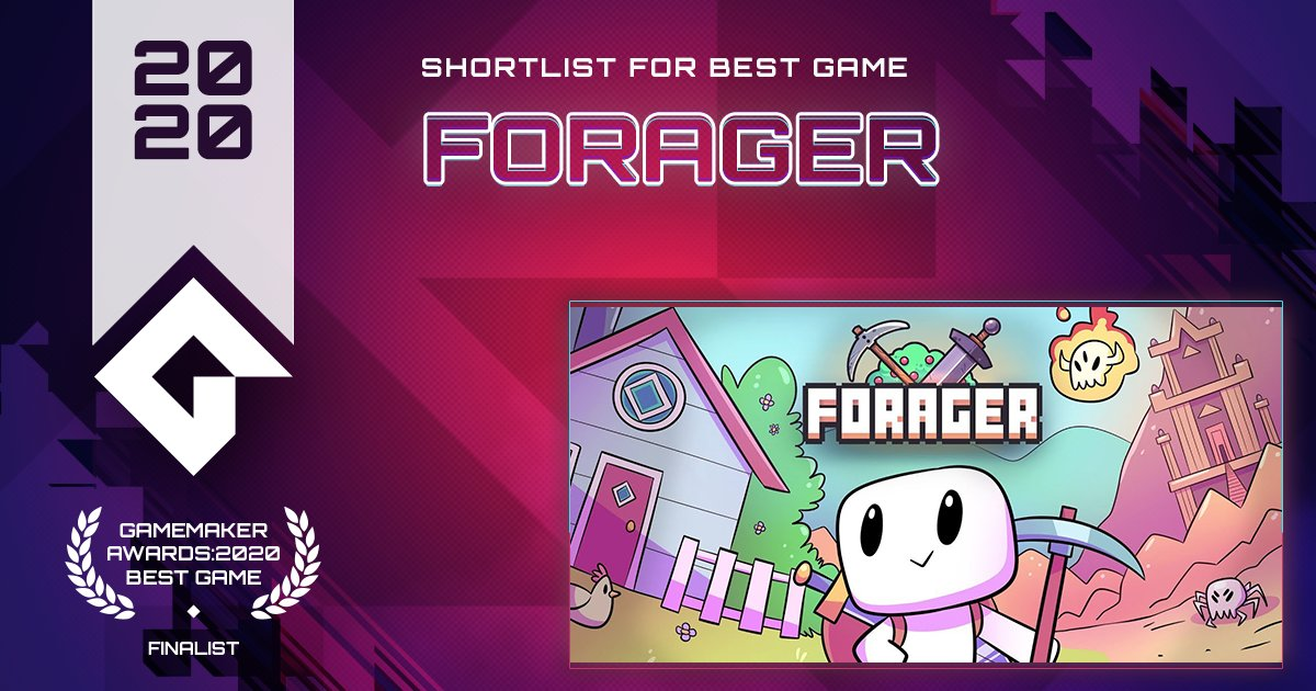 Forager from @_HopFrog is the highly popular and quirky idle game that you want to actively keep playing.  VOTE Forager for Best Game! https://t.co/sOoL4ZlEJ3 #GameMaker #GMBestGame https://t.co/bI0107PegR