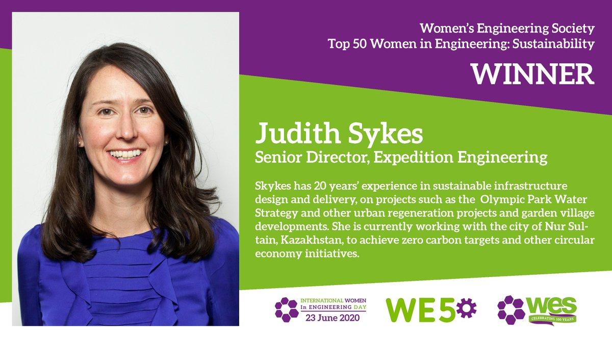 Congratulations to Judith Sykes! #WE50 @Judith_Sykes