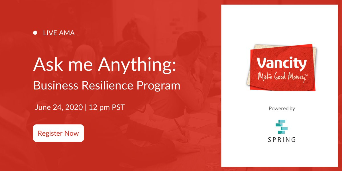 Join Keith Ippel, CEO & Founder of @spring_is, and Stephanie Sang, CEO & Founder of @grantedcanada, for a live AMA session on building #businessresilience on Wednesday, June 24 @ 12pm PDT. Register now: https://t.co/PvCM0D7OVV https://t.co/pPRB47za5V