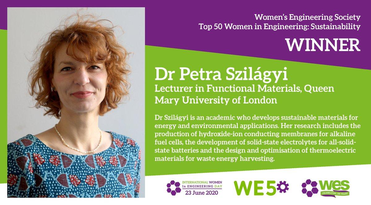 Congratulations to Dr Petra Szilágyi! #WE50 @PASzilagyi