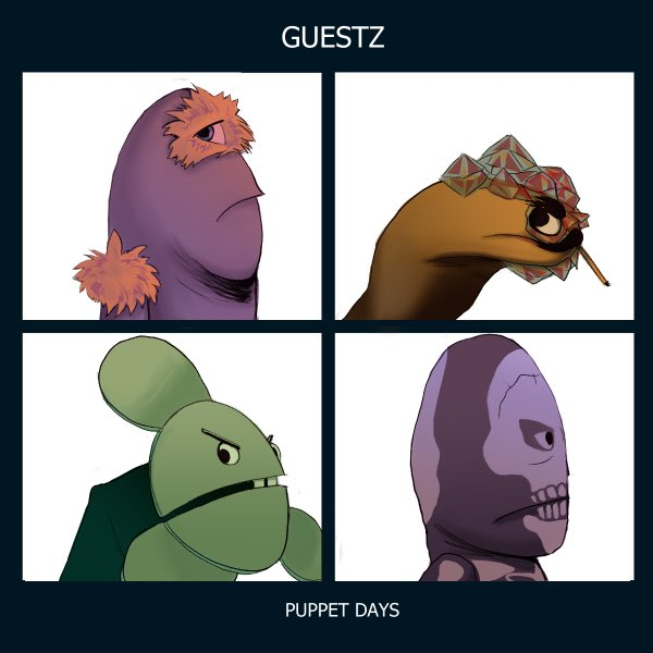 Redrawing album covers, Puppet History style! Would love if more people joined in the fun! Just hashtag #PuppetHistoryAlbumArt @wearewatcher @shanemadej @ryansbergara @stevenkwlim https://t.co/T8dcmQXeAo