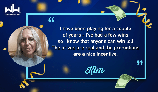Thank you for playing #WorldWinner games Kim! Want to win cash prizes too? Click the link now to play on https://t.co/obg685bqFs or download our mobile app! 🤗💰✨ https://t.co/LR3oGrdnvA  #play #win #cash #cashgames #tuesdaymotivation https://t.co/m5su4KAkfe