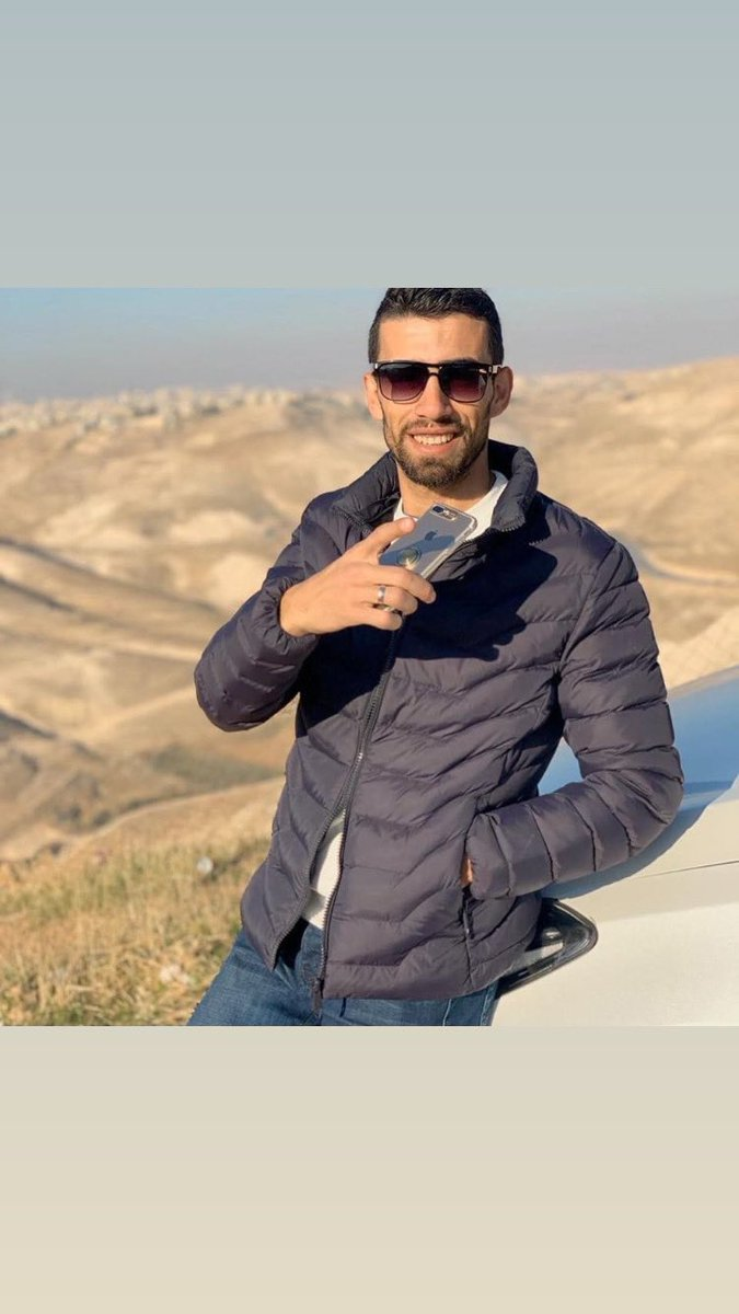Ahmed Erekat, 27, beautiful young man. A son. A brother. Fiancée. My baby cousin. Israeli cowards shot him multiple times, left him to bleed for 1.5 hours and blamed him for his death. Tonight was his sister's wedding, his was next month. We failed to protect him. I am so sorry. https://t.co/3E341iE7sM