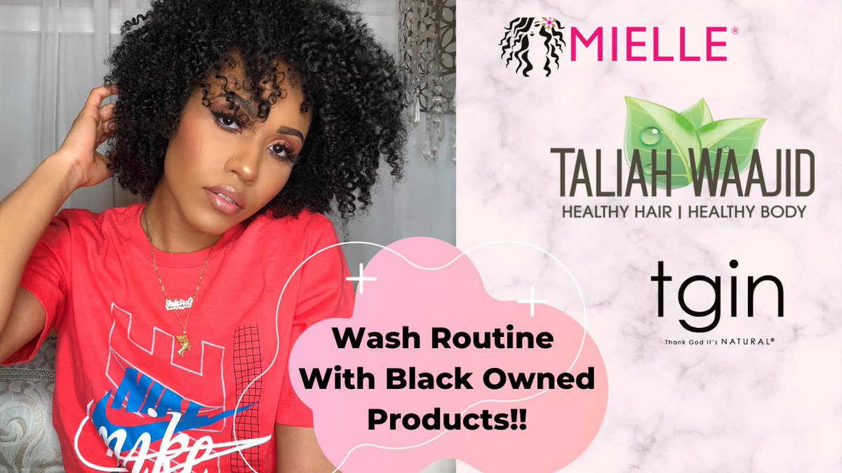 Day 2 of #InfluenceinBlack Black owned hair products for wash day 💖 The besttttt 👇🏽 youtu.be/xm6MY2pyOGg