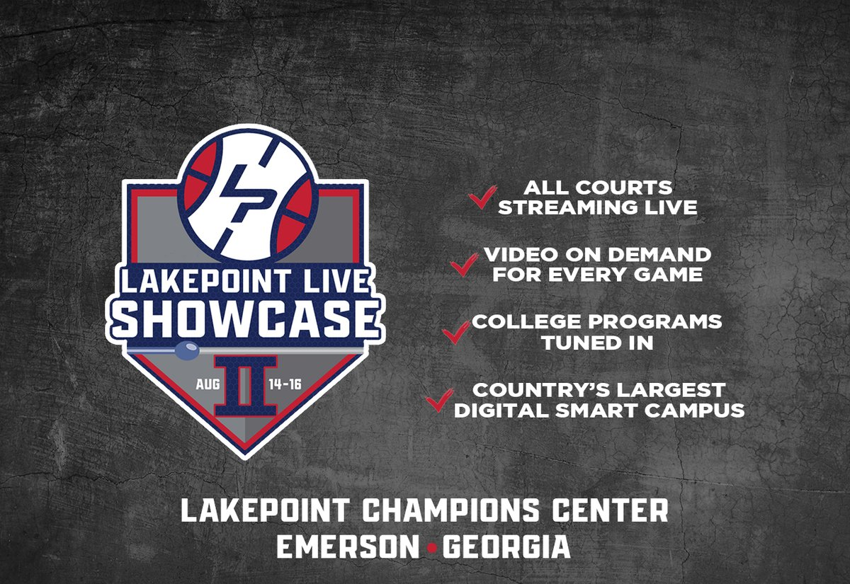 📢 ATTENTION📢  If your travel team didn't get a spot in the #LPLiveShowcase on July 10-12, we have good news for you. We'll be hosting #LPLiveShowcase2 on August 15th/16th at the @LakePointSports Champions Center!  Registration details will be posted later this week! https://t.co/IlVTPCLhPj