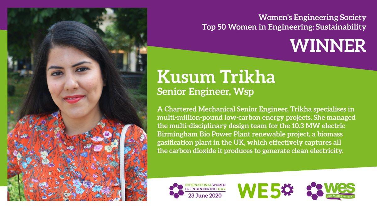 Congratulations to Kusum Trikha! #WE50 @kusumtrikha