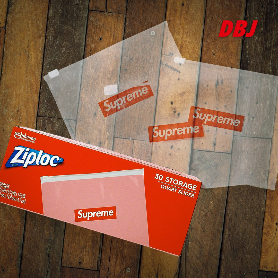 Supreme/Ziploc Bags (Box of 30) will also be releasing this Thursday June 25th. Who's grabbing some?