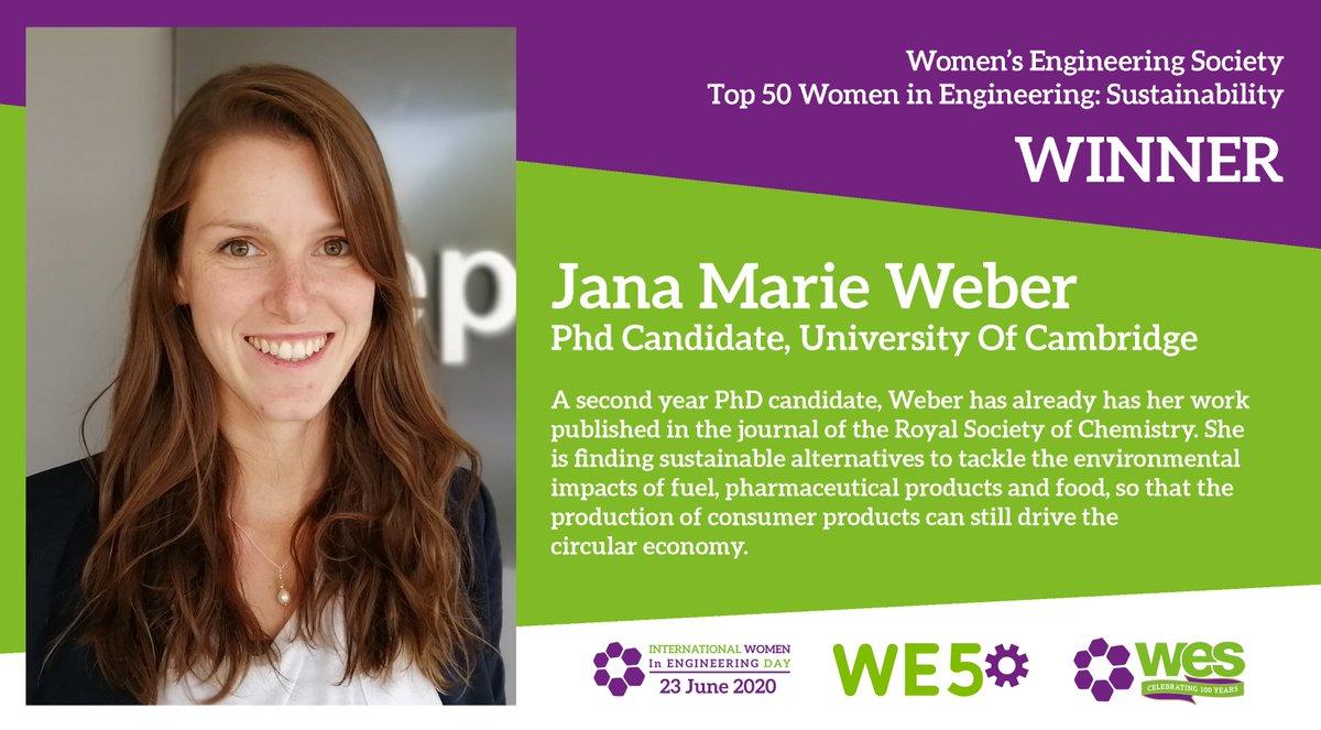 Congratulations to Jana Marie Weber! #WE50