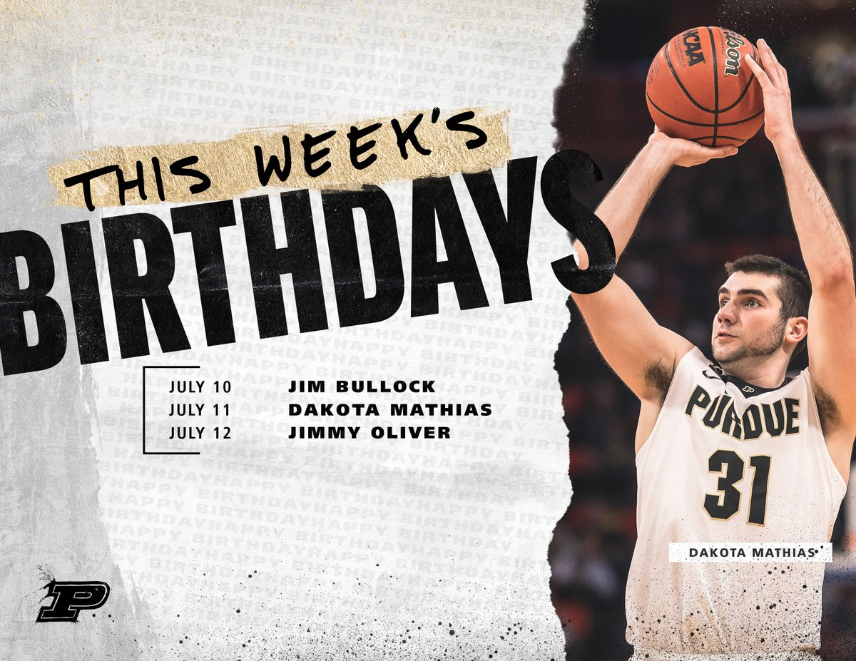 🎊🎉🎂🥳 Happy Birthday to these Boilermakers this week. https://t.co/WEdRC62b0k