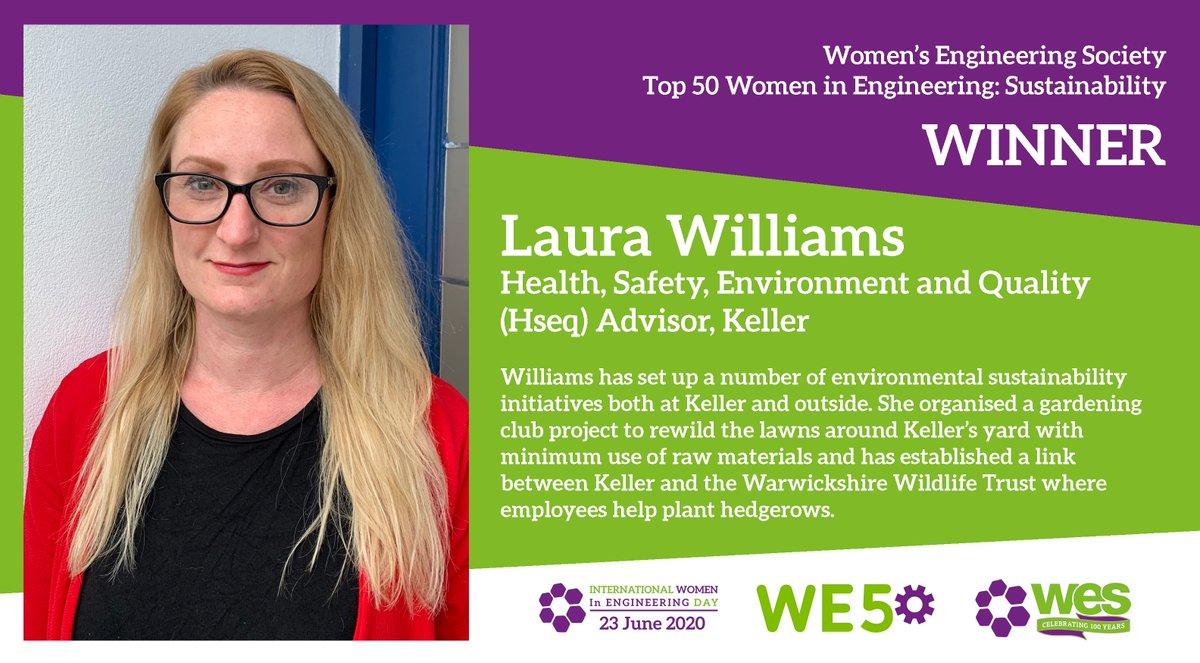 Congratulations to Laura Williams! #WE50