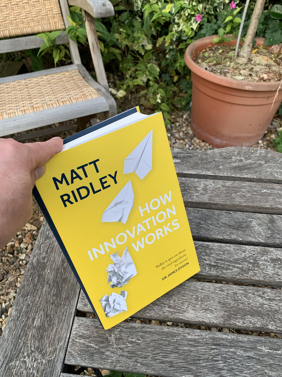 This evening's reading material courtesy of @mattwridley