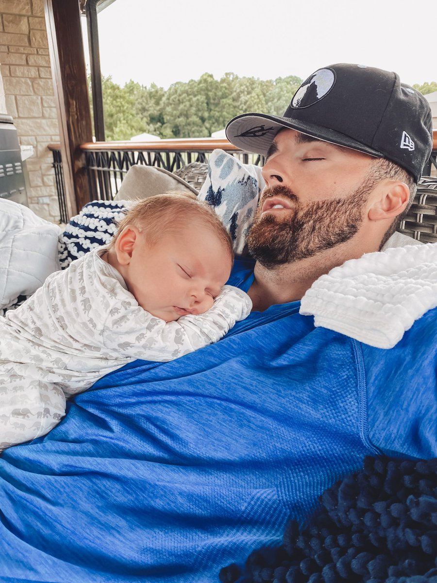 Afternoon snoozin' with my little guy...😴🐺♠️ #DadLife