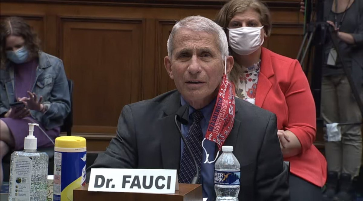 Fauci's @Nationals facemask for today'a House COVID hearing:
