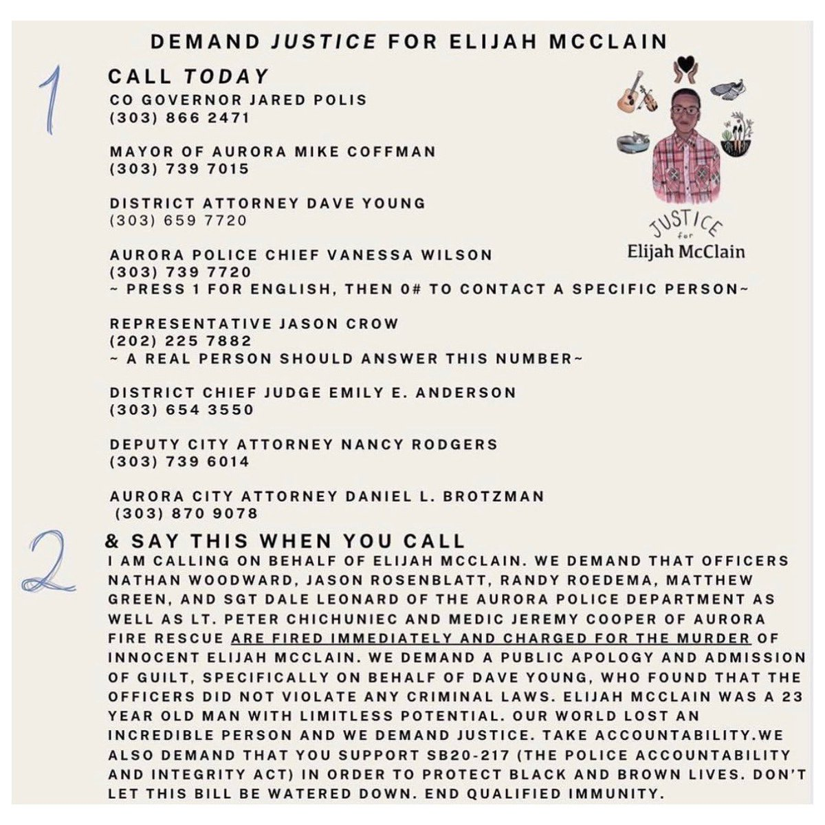 #JusticeForElijahMcClain