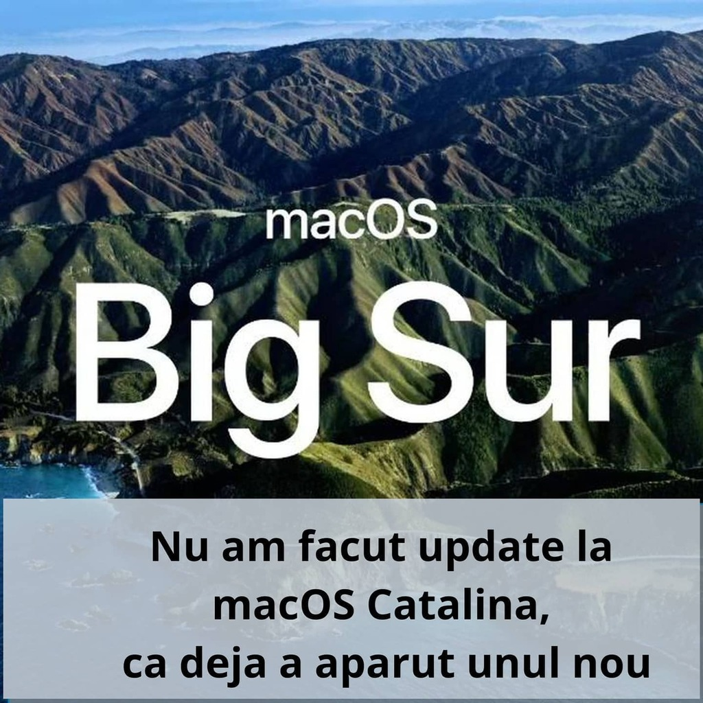 Nu am facut update nici macar la #macos #catalina ca deja se lanseaza o versiune nou :))) . . . . #macbook #macbookpro #macos #developerlife #developers #programare #programator #programming #programmingmemes https://t.co/FOaVYkK9Fd https://t.co/tW0S40YO7S