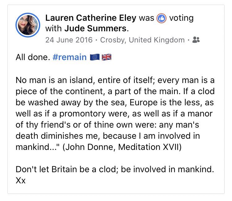 FOUR years ago today... #BrexitVote