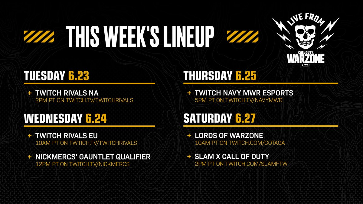 Dont wait for the clips—watch the intensity unfold live in this weeks Live From Warzone tournament lineup.