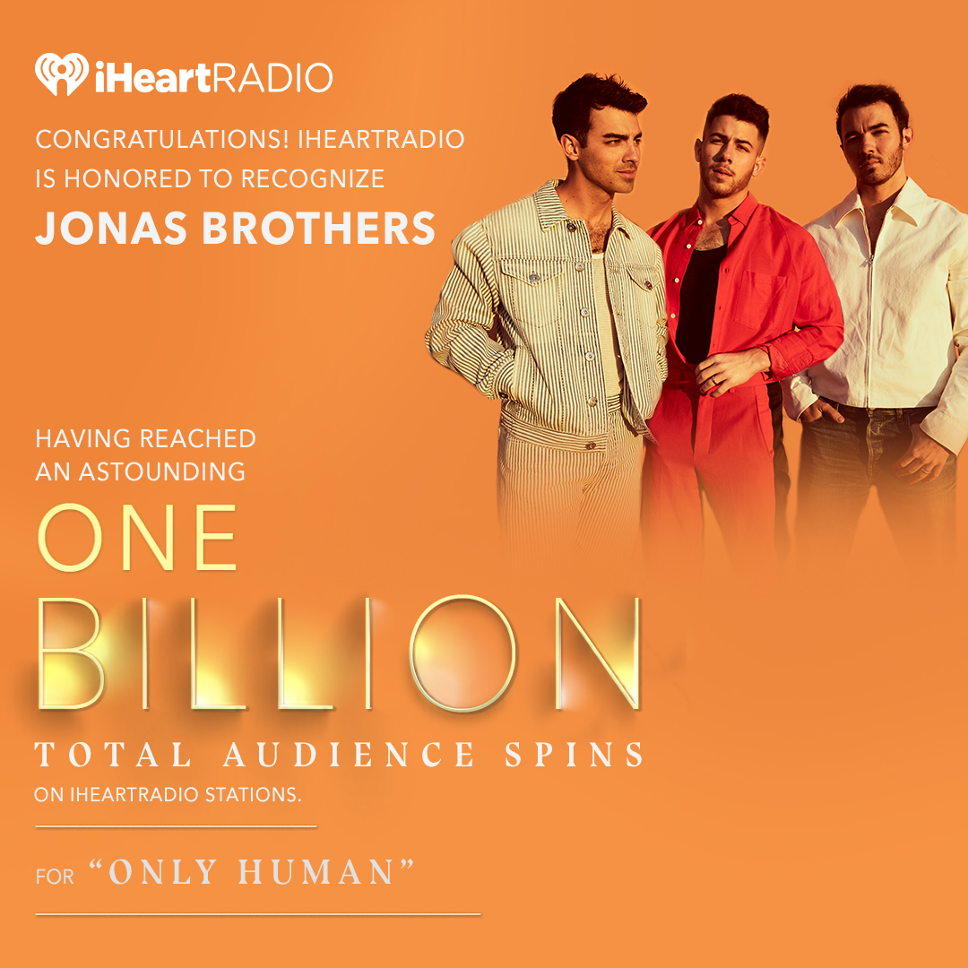 Congratulations to @jonasbrothers, @thegreatkhalid and @lizzo on receiving iHeartRadio Titanium Awards for achieving ONE BILLION total audience spins across iHeartRadio stations in the United States! 🏆