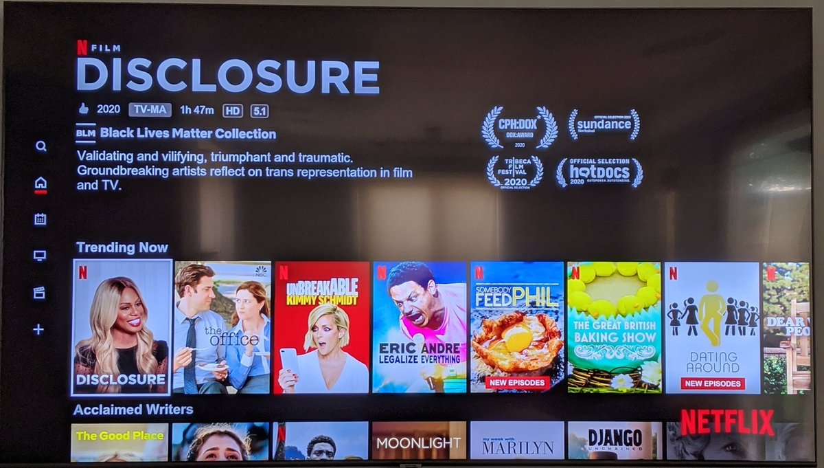 Who else is watching today? Apparently, it's all the trend. #DisclosureNetflix