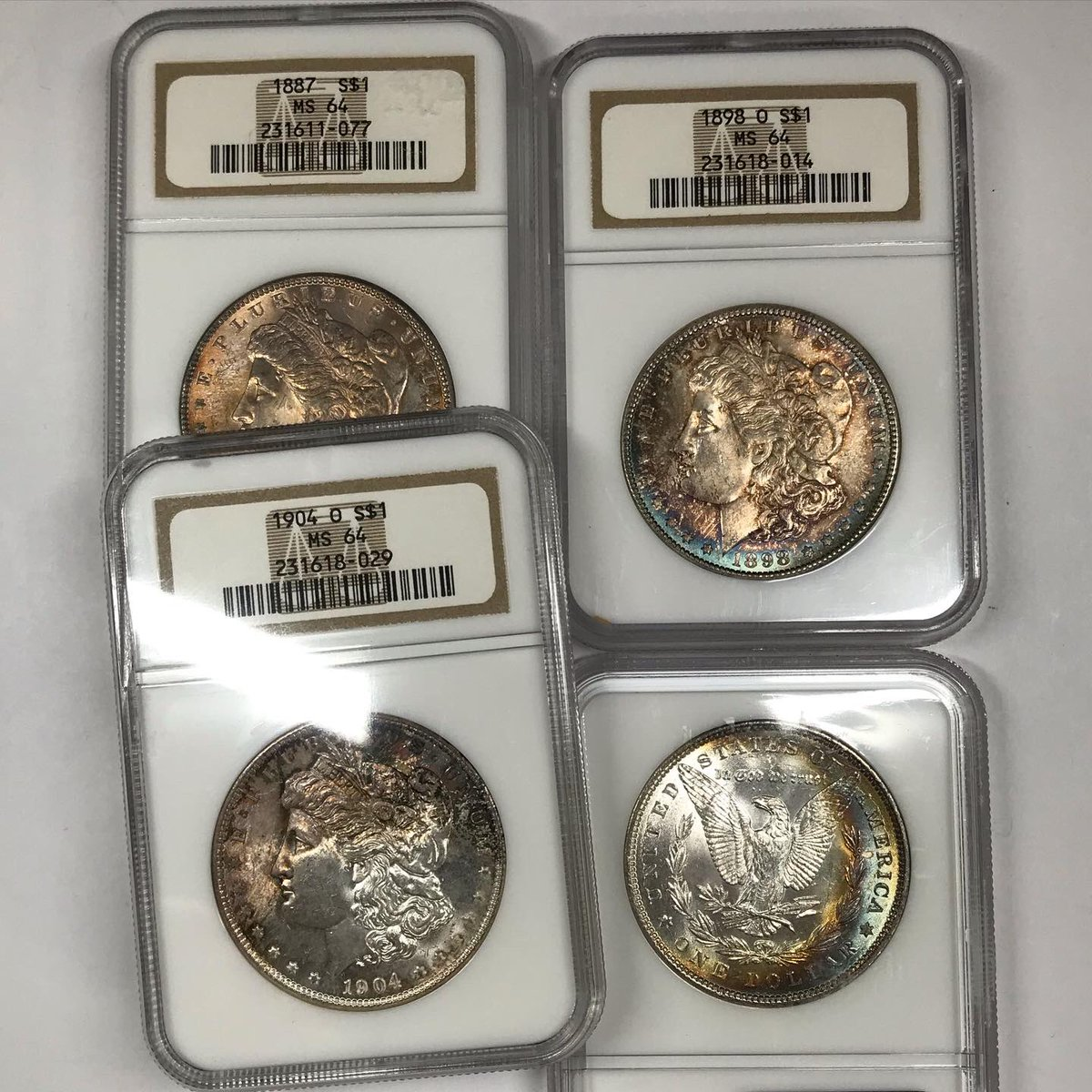 Old Pueblo Coin On Twitter A Hoard Of Ms64 Morgan Dollars Recently Came In The Shop They Re Mostly All Common Date But A Handful Have Some Cool Toning Going Up As