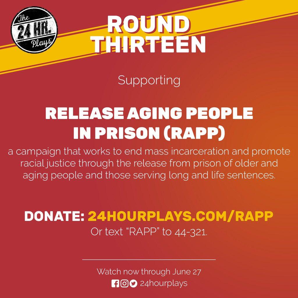 INTERMISSION: Visit 24HourPlays.com/RAPP to donate‼️ @RAPPcampaign