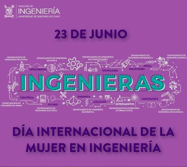 Nos adherimos a @ingenieria_2030 para saludar a todas las ingenieras @usach, quienes hoy conmemoran el Día Internacional de la Mujer en la Ingeniería 👩🏻💻👩🏻💼👩🏻🔬👷🏻♀️  ¡Felicidades! https://t.co/6cPQpwDNmI
