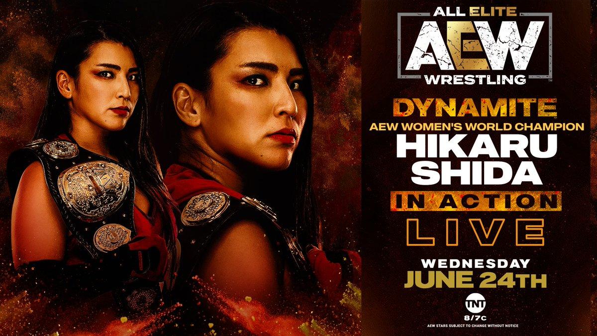 AEW Announces Hikaru Shida Will Be In Action Tomorrow On AEW Dynamite