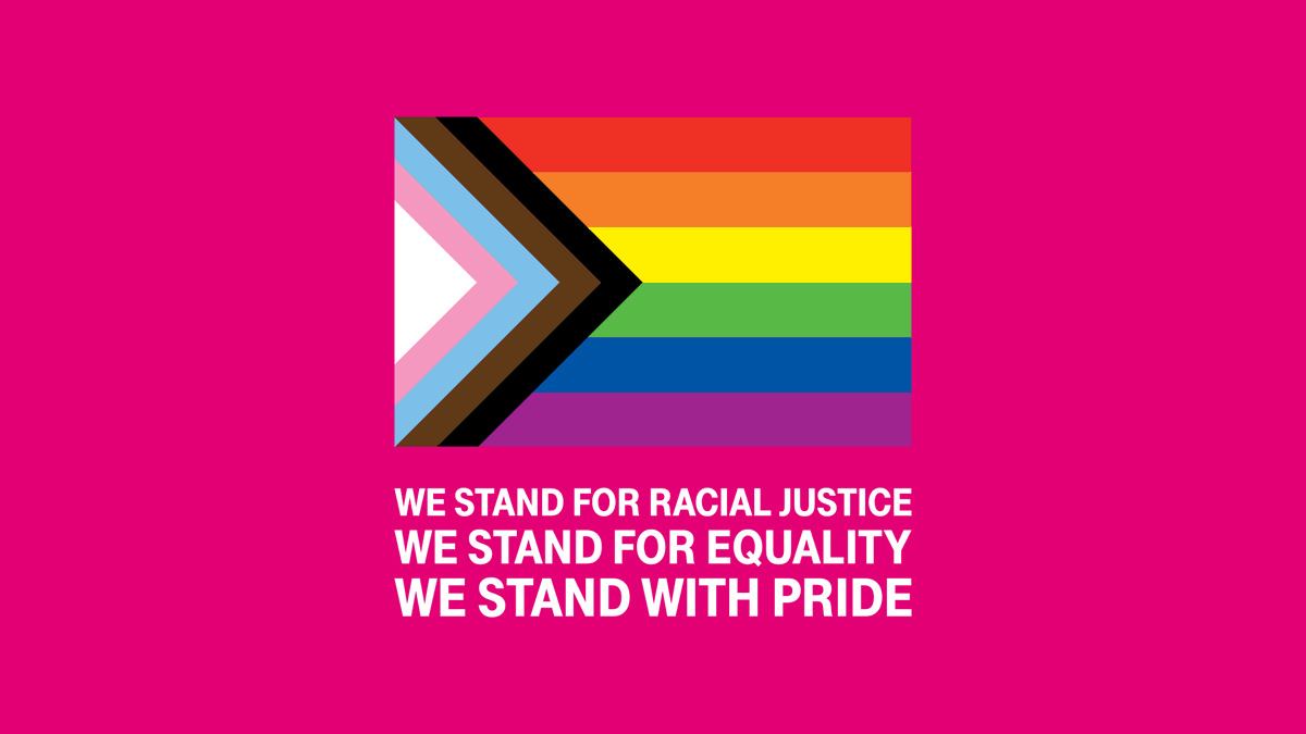 With roots in protest, standing up to injustice & inequality is what Pride is about. As the fight for racial justice overlaps with Pride month, it emphasizes how much work is still left to do.  We stand in solidarity with the fight for progress & full equality. #StandWithPride https://t.co/qK1OkoGSSK