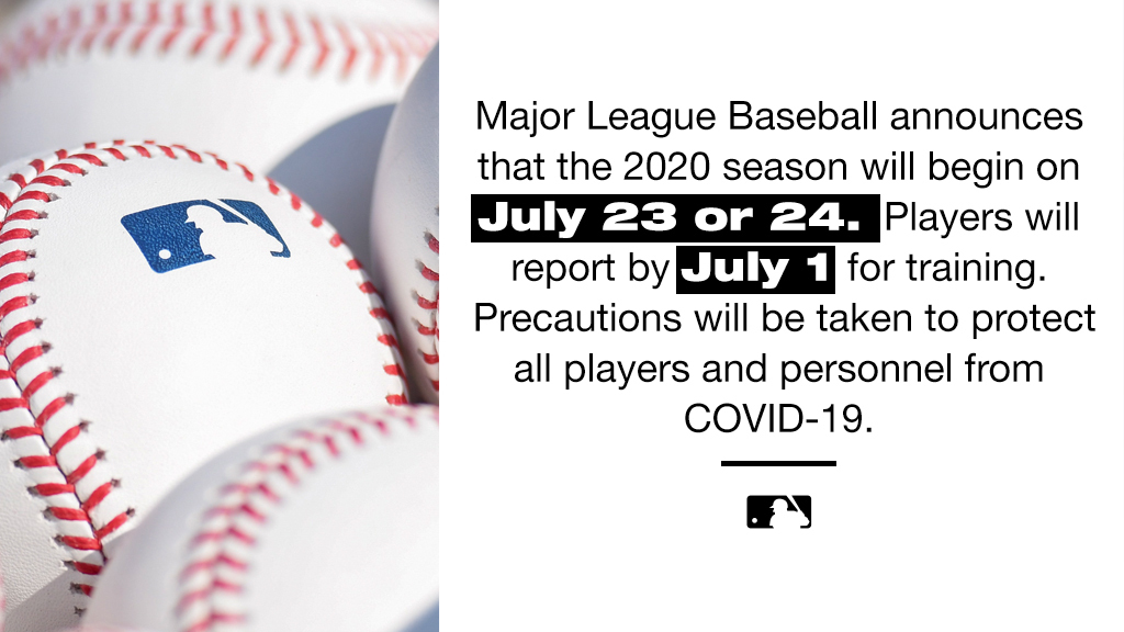 Information about Major League Baseball's return to play: https://t.co/TTOvy8C826. https://t.co/kwSlUZUMDl