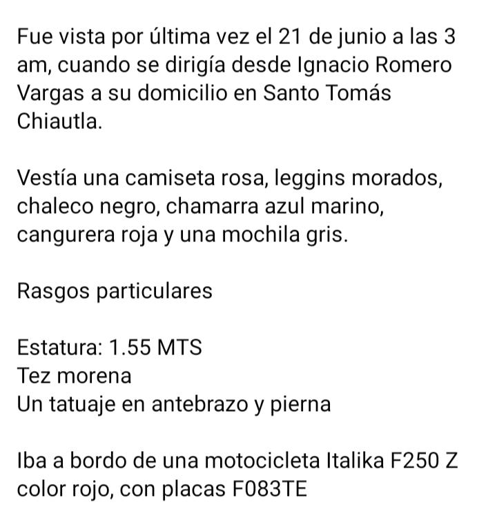 Me podrían ayudar a compartir...  Su nombre es: Alba Maricela Martinez Rojas @ylicona  @JimePmora  @itzivalencia  @Canal13Puebla  @C_Lobato  @CentralPuebla  @e_consulta https://t.co/FHpKTaNTXr
