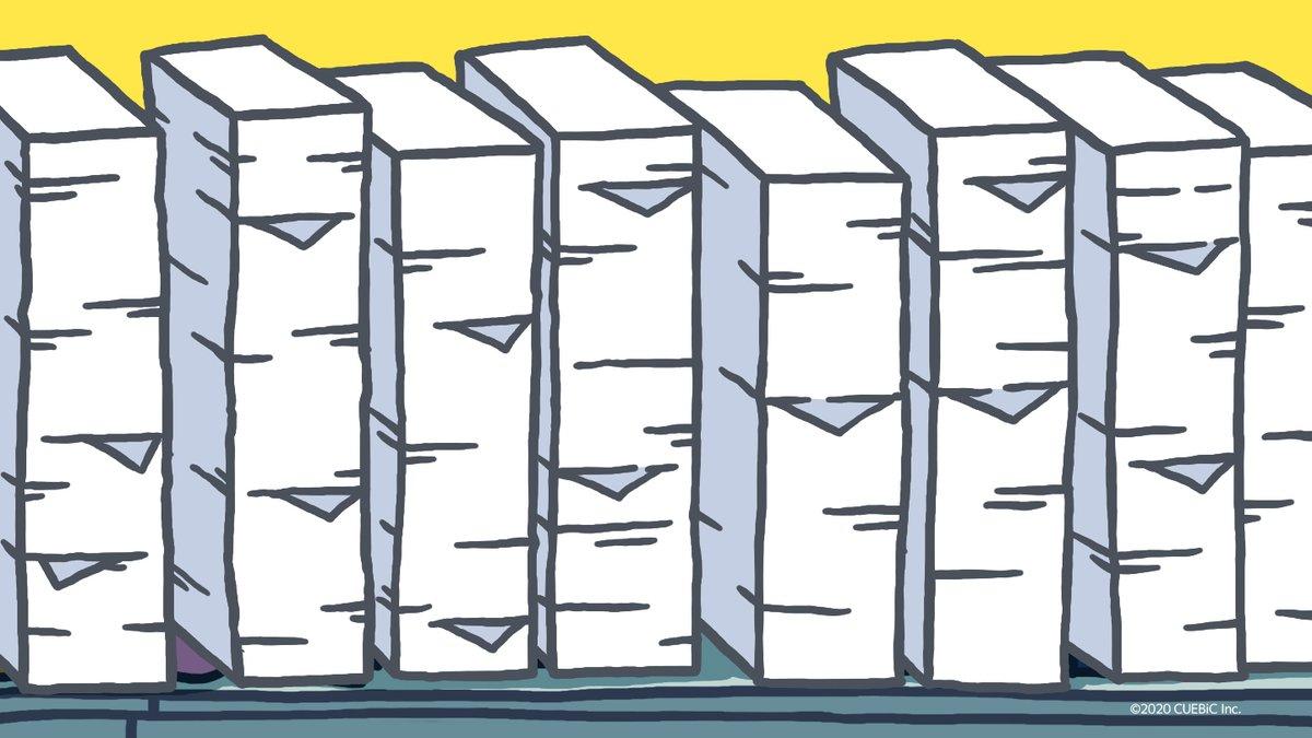 1RTごとに1枚書類を片付け終わるモモウメ。 みんなでモモウメを定時までに退勤させてあげましょう。 https://t.co/yzX6bng8Of