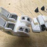 Image for the Tweet beginning: #マドロック  HG版改造中の現在の状況です。  特に昨日は、バックパックの続き。ダクトの横側のガ-ドなどの接着作業などをしました。  腰カバーも右ヘリウムコア辺りの修正などと・・。  サーベルラックや頭部もいじりますよ。  #ジオニックフロント #ガンプラ #ガンダム6号機 #ガンプラ改造