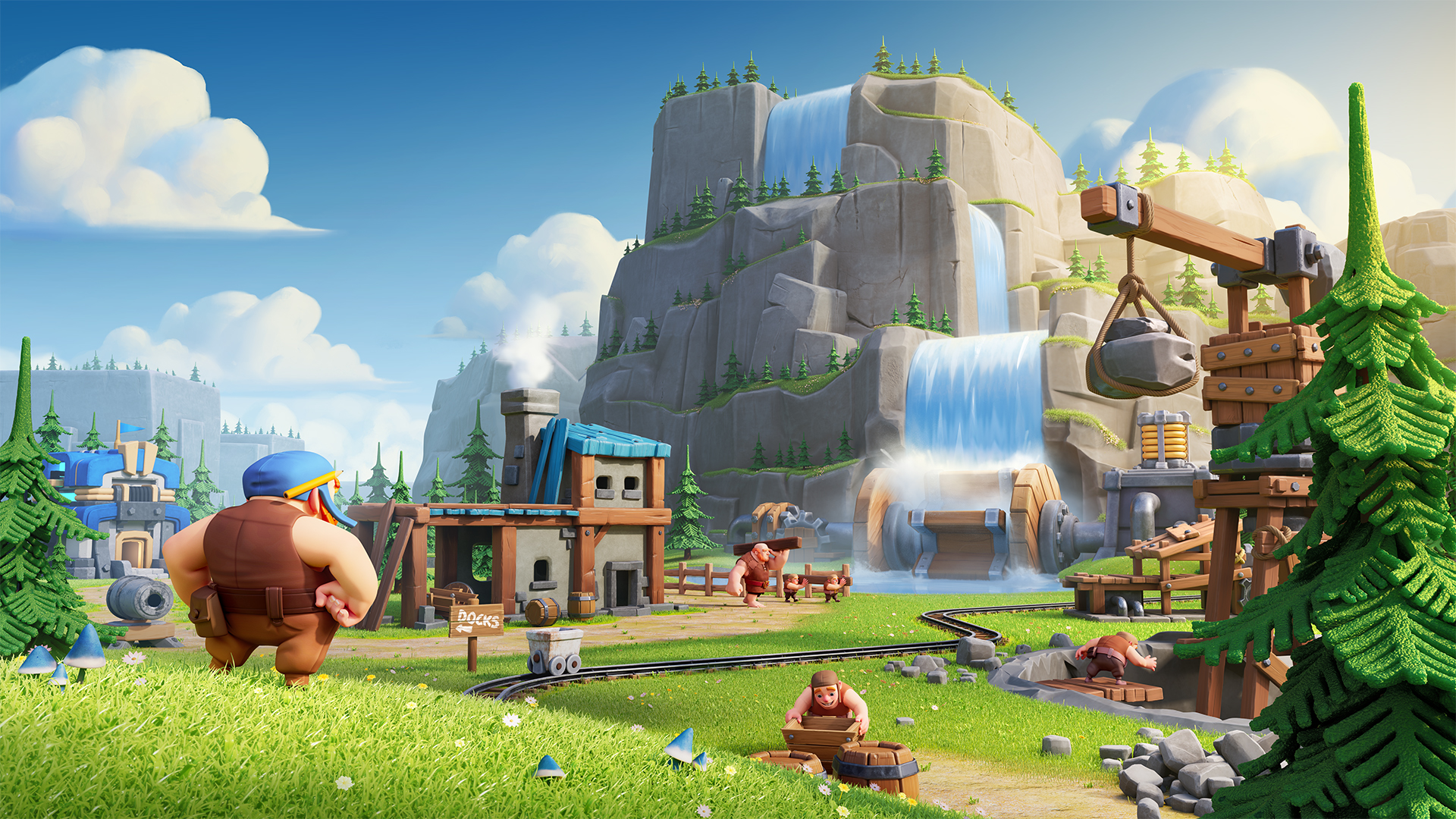 Clash Of Clans On Twitter How Do You Like The New Custom Village Background Chief Clashy Constructs Scenery Bundle Is A Limited Time Offer Find It In The Shop While