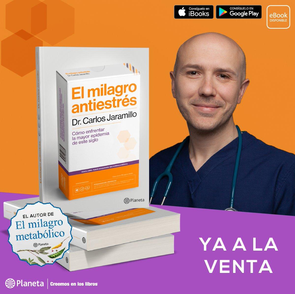 """En su nuevo libro, el fundador del Instituto de Medicina Funcional, explica la diferencia entre el estrés """"percibido"""" o emocional y nos invita a cambiar nuestro estilo de vida.   El milagro antiestrés del @drcjaramillo ya está en Chile. #KeepReadingEnCasa #CreemosEnLosLibros pic.twitter.com/h01fWPkT2a"""