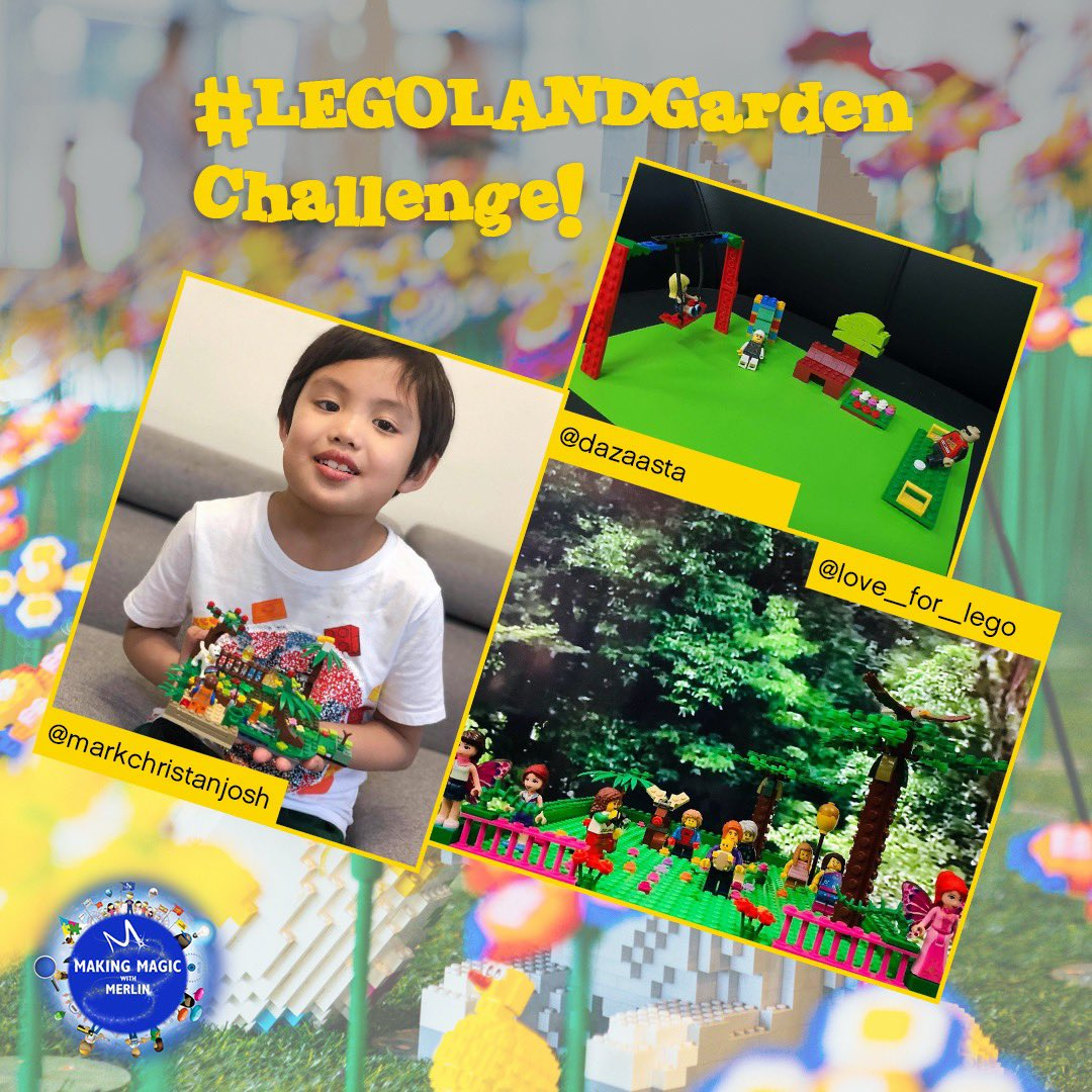 These AWESOME #LEGOLANDDubai fans have green fingers! We loved your creativity when putting your #LEGOLANDGarden together and can't wait to see what you build next! #MakingMagicwithMerlin https://t.co/nLvWO5ohP1
