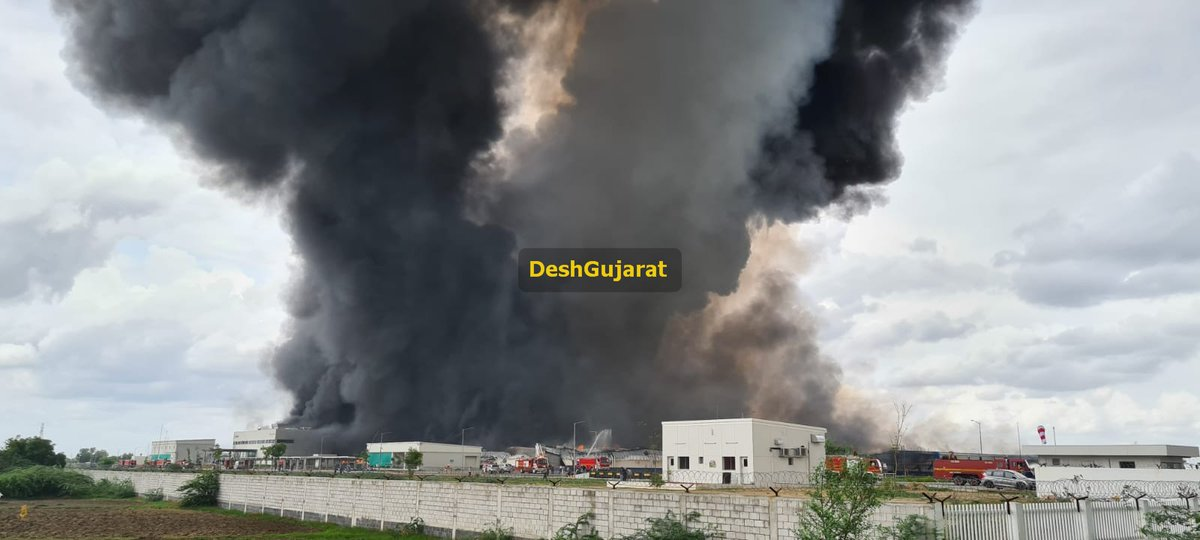 Massive fire in Sanand based Unicharm factory unit; entire plant gutted, no casualties reported