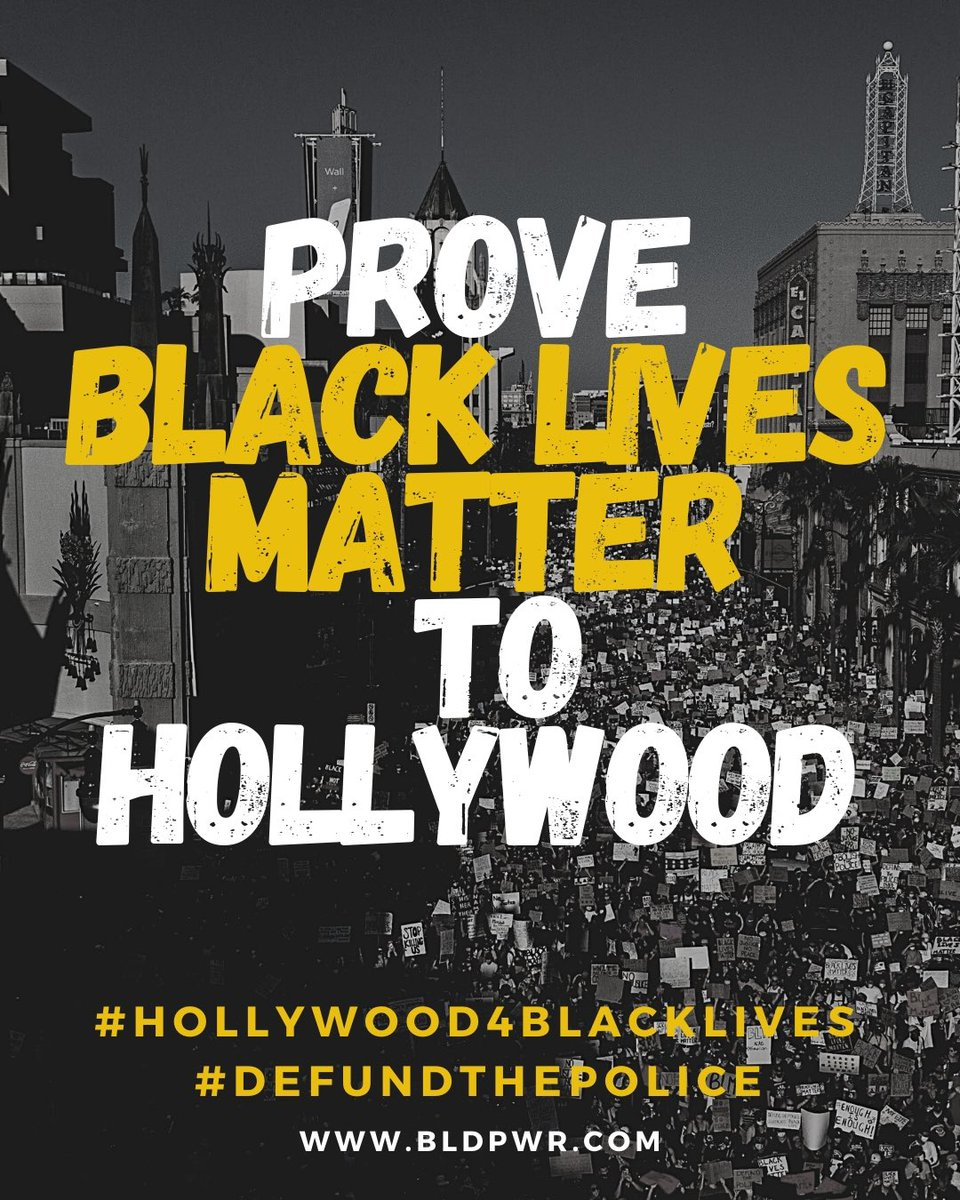 Read our letter and full list of demands athttps://t.co/xpBWQ8Pblj. #Hollywood4BlackLives #DefundThePolice https://t.co/P9nTRSxF1y
