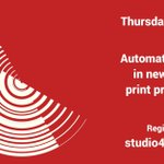 Image for the Tweet beginning: Tomorrow at Studio 4D48: Automation