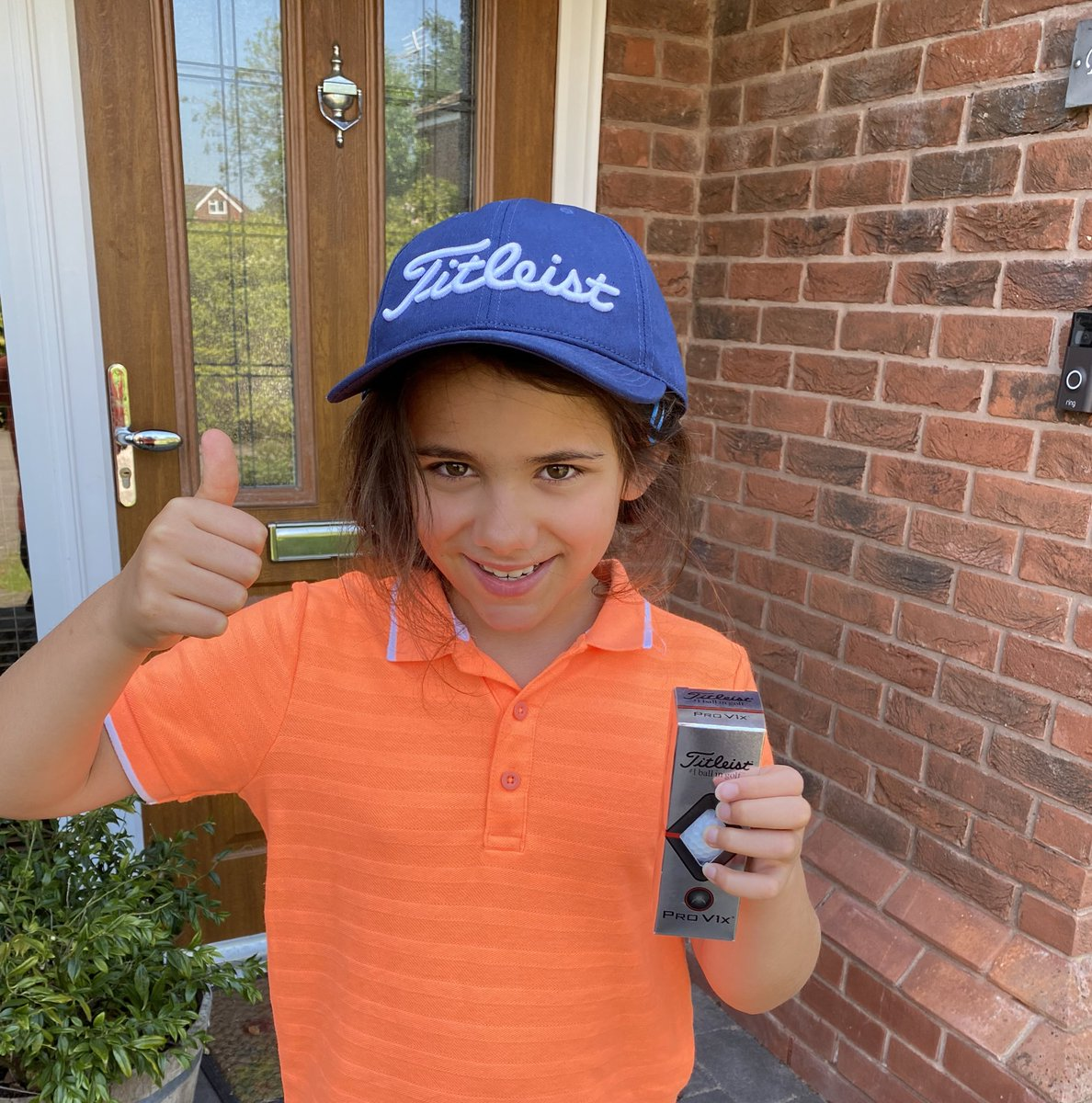 Many thanks to @PinkCarLeasing for the new Cap and sleeve of Pro V1, which arrived today. Well done to everyone who starred in the @robrockgolftour lockdown video which got 3rd place. Looking forward to seeing you all on Sunday from a distance!