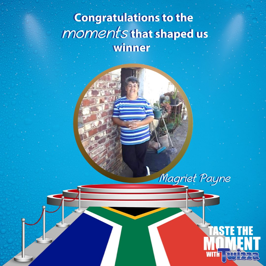 Congratulations to our Moments that shaped us winner 🇿🇦   We hope you enjoy your prize   #TasteTheMoment #Congrats #MomentsThatShapedUS #Twizza https://t.co/XR7hzOtpUQ