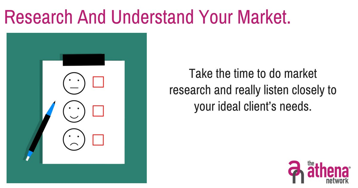 """""""Take the time to do market research and really listen closely to your ideal client's needs."""" - Penny Elliott, https://t.co/wIFpUNJB8q  Do you know what your clients want and need?  #BeYourOwnBoss #BusinessNetworking #CreateConnections #WomanInBusiness #WomenInBusiness #Success https://t.co/6w0bvsqf0e"""