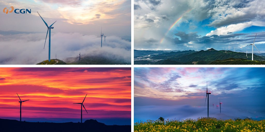 "The Jiangxi Qilinfeng wind farm, with an installed capacity of 50MW, the ""China Dark Sky Reserve - Geyuan"", financed by CGN Clean Energy, offers a veritable visual spectacle. Other structures in harmony with nature should be built soon. 🍃 https://t.co/LrRuW8N0CS"