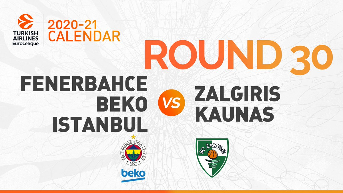 Round 30  @FBBasketbol vs @bczalgiris   #GameON https://t.co/M4BP2GX6Vl