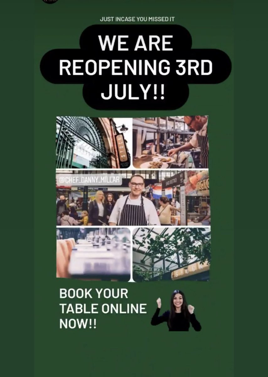 Back open 3rd July ⁦@stock_kitchen⁩ hope to see you all soon 🙏