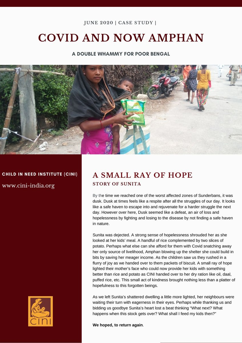 Stories you shouldn't miss | A Small ray of Hope  #casestudies #COVID__19 #COVID19India #amphansupercyclone #Amphan #amphancyclone #cycloneupdate #COVIDUpdates #SaveBengal #PrayForBengal #Sunderbans #donations  @KKRiders @GaurabBasuMDMPH @BBCNews @ndtv @ndtvfeed @CTVNews https://t.co/EGD5SDLr8W