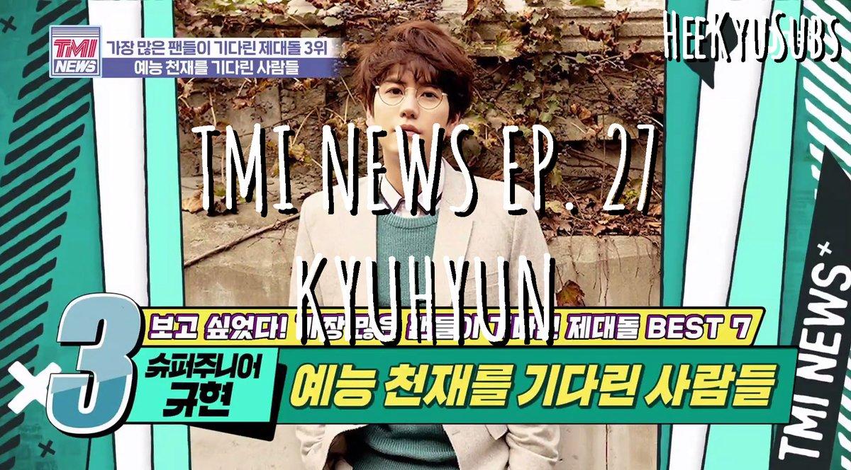 [ENGSUB] TMI News Ep. 27 - KyuHyun  Youtube: https://t.co/2gkV1xjJRS  #KYUHYUN #KyuTV #규티비 #SUPERJUNIOR #규현 #슈퍼주니어 https://t.co/4O5ErjF5Tp