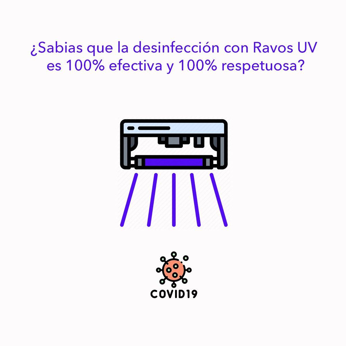 #Sabiasque la #desinfección mediante rayos #ultravioleta es 100% efectiva y respetuosa con el #medioambiente                                          . . . #SuncabiClean #covid19 #coronavirus #esterilización #uvc #nuevanormalidad https://t.co/dGGv6NCMZC