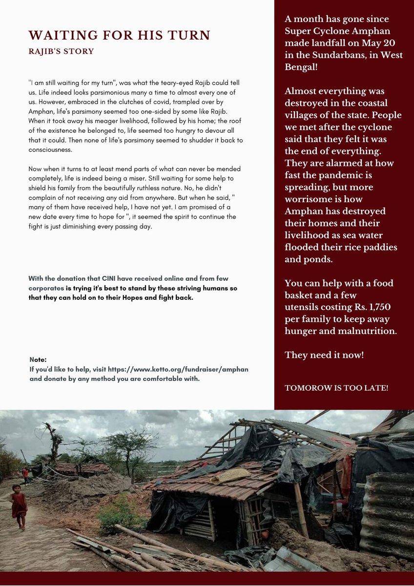 Stories you shouldn't miss | Waiting for his Turn   #casestudies #COVID__19 #COVID19India #amphansupercyclone #Amphan #amphancyclone #cycloneupdate #COVIDUpdates #SaveBengal #PrayForBengal #Sunderbans #donations  @KKRiders @GaurabBasuMDMPH @BBCNews @ndtv @ndtvfeed @CTVNews https://t.co/9LACjKQjYW
